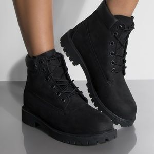 Black Classic Timberland Boots Womens